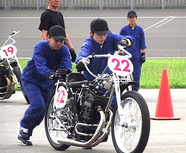 バイク押し掛け